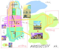 The easy map  of MANEHATTEN by nekokevin
