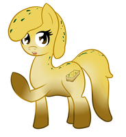 Commish - GarlicBread Pony by jake-heritagu