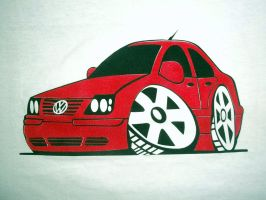 jetta a4 cartoon airbrushed by javiercr69