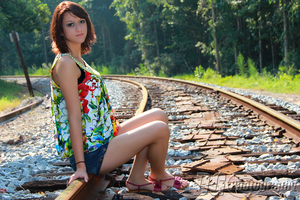 Waiting on the train by DGPhotographyjax