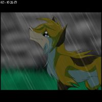 Wolpy in the Rain-Gift by LilGreenTraveler