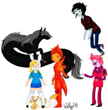 Gender swapped Adventure Time V2 by Wolfgrl13