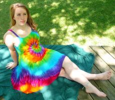 Tie Dye Dress Stock I by Melyssah6-Stock