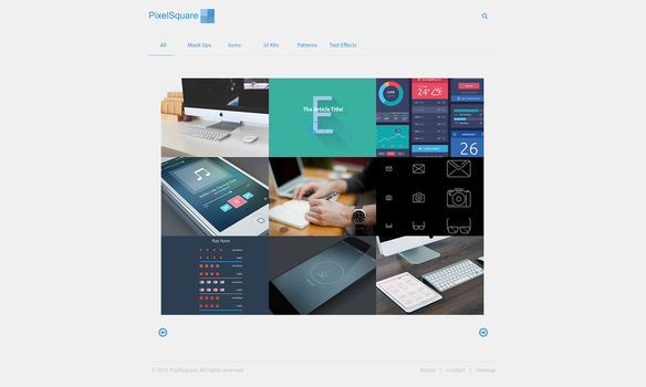 PixelSquare - freebie's for web designers by AlexKoyo