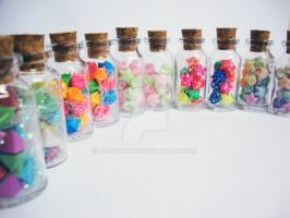 Bottled Origami Stars by eduardaapp