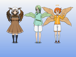 Virtue angels  Temperance  Patience and diligence by mylittlesailorsonic8