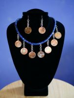 Copper Coin Dangles by SoulStoneDesigns