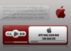 crimson mini player for itunes by gravedesires777