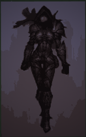 Diablo 3 Female Demon Hunter 8bit minecraft Dark by 8bitXminecraft
