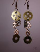 Steampunk earrings 13 by TheCraftsman
