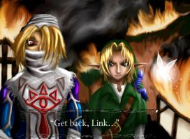 Old Work: 'Get back, Link..' by thelegendoflauri