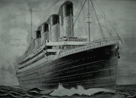 Titanic at sea by Vadil97