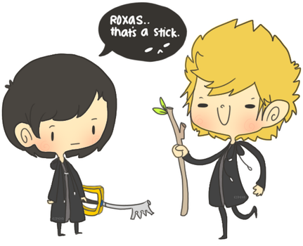 xion and roxas by unversed