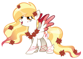 Feather blossom oc for FeatherblossomArtist by SugarMoonPonyArtist