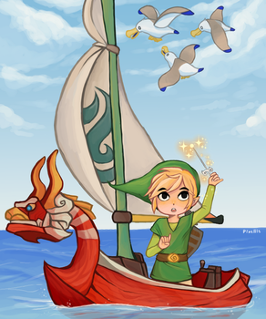 The Wind Waker by PandaHatLara