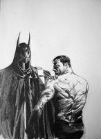 Alex Ross' Injured Batman by razwit