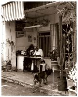 Tailor and Dog by Risuchia