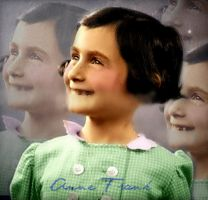 Happy Little Anne Frank by Livadialilacs
