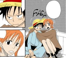 Luffy x Nami 4 by Gelabird