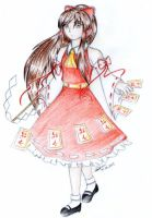The guarding red-and-white Miko by AeternusVotum