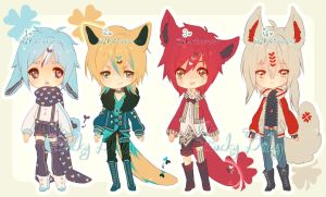 Auction : Lucky Baby Species Set 5 [CLOSED] by HyRei
