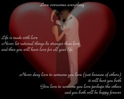 Love Overcomes Everything by edneu2004