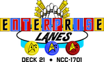 TOS USS Enterprise Bowling Alley Logo by viperaviator