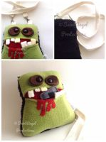 Handmade Zombie Purse, Monster Pocket Mouth Bag by Saint-Angel