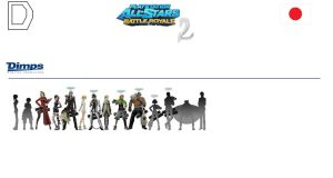 PSASBR 2 Japanese Manufacture Characters Roster D by pp7jones