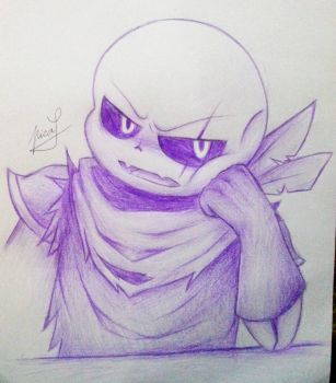 Swapfell sans (one color contest entry in amino) by Neko-Priestess327