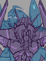 Soundwave and Blurr by CatgirlKitsune