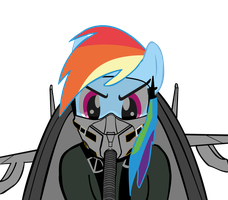 Rainbow Dash is a pilot by xzenocrimzie