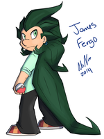 James Fergo Pokemon style by Marukio
