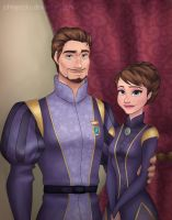 Royal Siblings Portrait by johngreeko