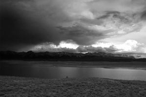 Black and White Lake by GambllingYouth