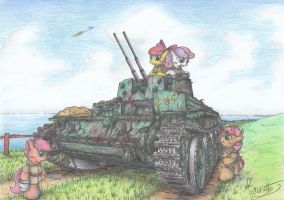 Cutie Mark Crusader AA Tank by Patoriotto