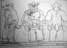 Brawl Bandicoot Model Sheet by VerdantStrike