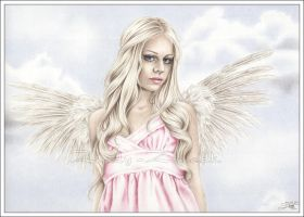 Angel in pink by Zindy