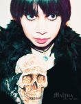 me and my skull :P by MaithaNeyadi