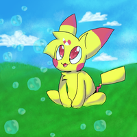-Art Trade- Mint the chao by Kassy1011