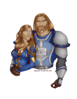 Commission:  Leedra and Eadric by MischiArt