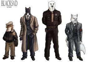 Blacksad characters by ThoRCX