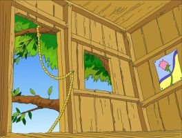 Tree house by Morefeous