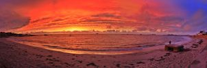 Panorama of a Guernsey Sunset by JakMG