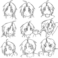 :Edward Elric: lineart by Roy-mustang-luver