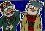 Grunkle Stan and Grunkle Ford Mini Canvas by awilli182