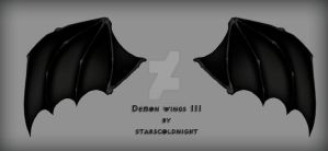 Demon wings set III PNG by StarsColdNight