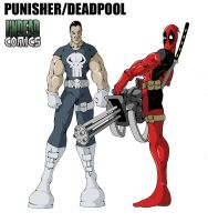Punisher and Deadpool by UndeadComics