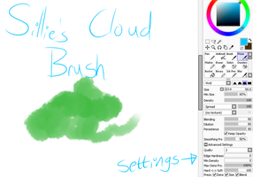 Sillie's Cloud Brush in SAI by choco-kye