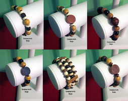 Wooden Stretch Bracelets by BloodRed-Orchid